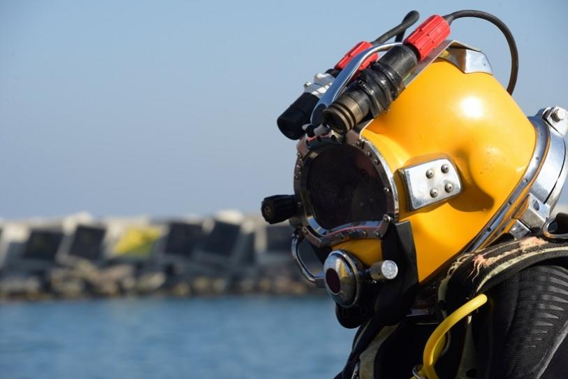 Deep Sea Diver in full suit