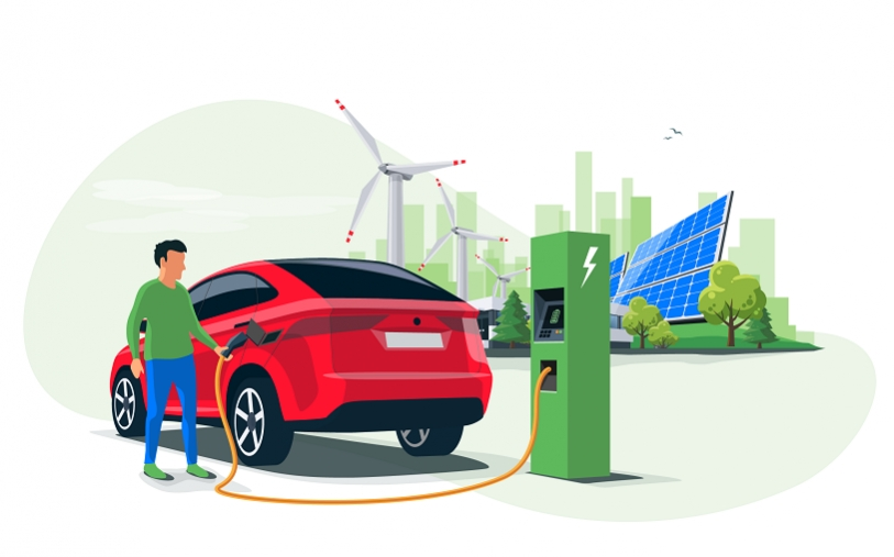 Electric Vehicle and Renewable Energy Sources