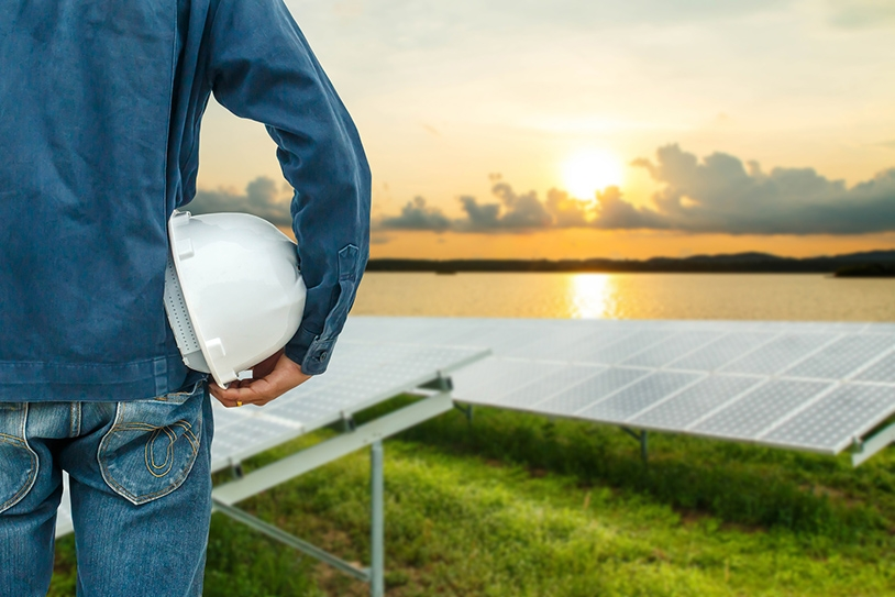 Engineer in Field of solar panels