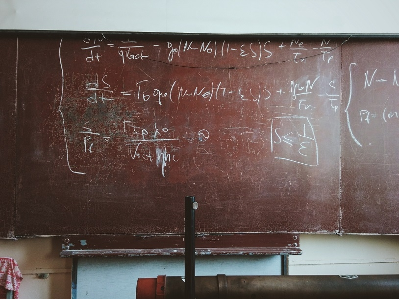 Nuclear equations on a chalkboard