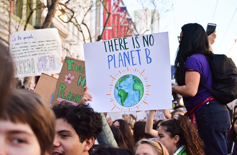 There is planet B - Green New Deal protest